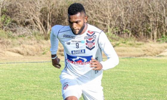 Miguel Borja se ha perdido los tres últimos partidos de Junior.