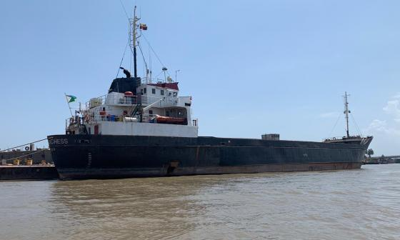 El buque de bandera de Djibouti (África) y de nombre 'Red Duchees' arribó al Puerto de Barranquilla a finales del 2020.