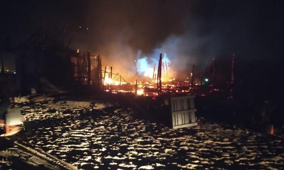 Incendio en Playa Blanca ocurrido el 3 de febrero pasado.