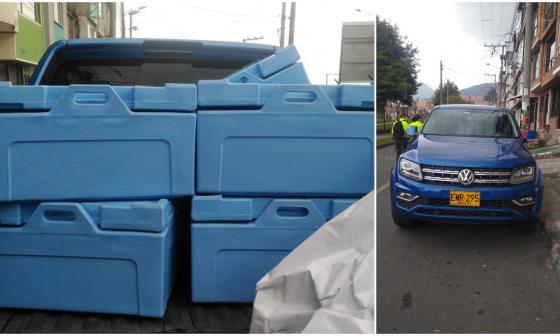 Policía recupera vehículo de la vacunación que había sido robado en Bogotá