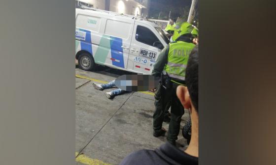 El presunto atracador dado de baja en el barrio La Unión.