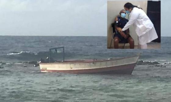 Rescatan a anciano colombiano a la deriva en el mar Caribe frente a Nicaragua