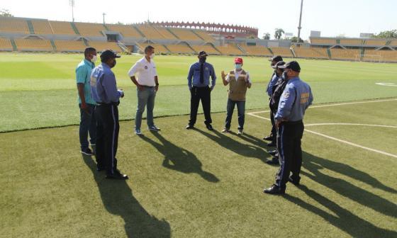13 escenarios deportivos de Cartagena estrenan vigilancia privada