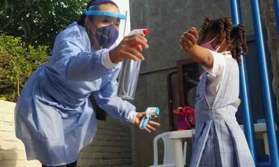 Arrancó piloto de clases presenciales en colegios públicos de Cartagena