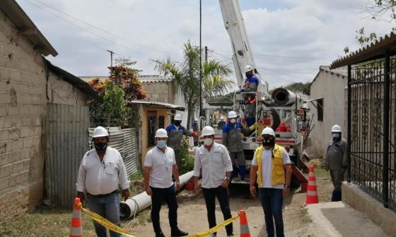 Normalización eléctrica beneficia a 464 familias en Sabanalarga