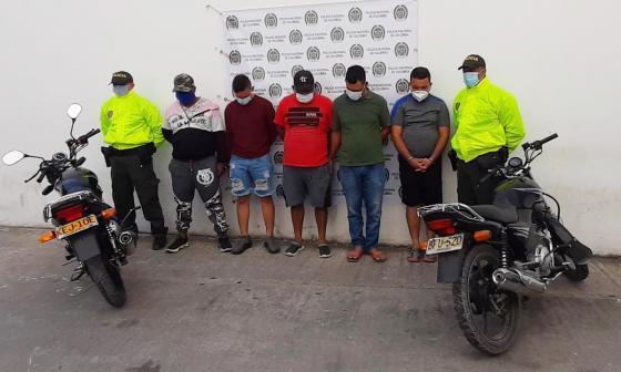 Desmantelan banda 'Los Krans', dedicada al hurto de motocicletas