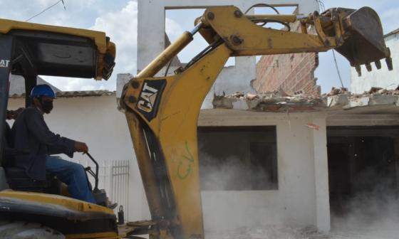 En Cartagena derriban casa donde vendían drogas ilícitas