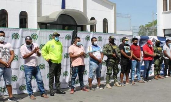Capturan a 9 sujetos que estarían al servicio del Clan del Golfo