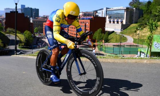 Higuita es el mejor colombiano en la primera etapa de la Vuelta al País Vasco