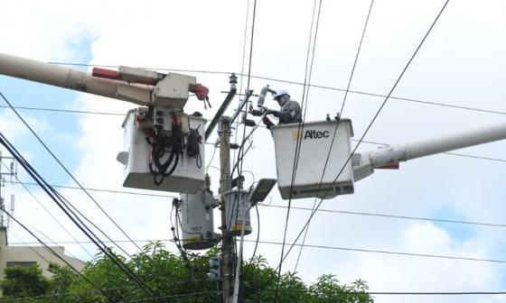 Trabajos de Air-e en Barranquilla y Campo de la Cruz