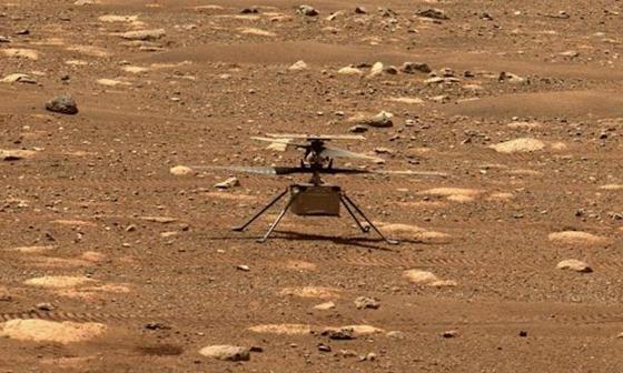 Nasa intentará el lunes el primer vuelo en Marte de su helicóptero Ingenuity