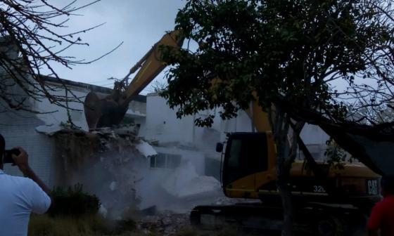 Una instalación policial, la cuarta 'olla' de vicio derribada en Barranquilla