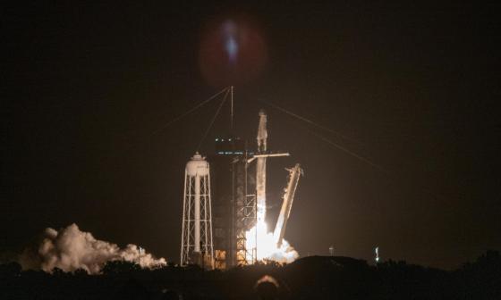 El Space x ya está en la órbita espacial