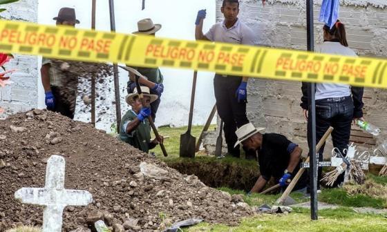 JEP recupera cuerpos de 3 víctimas de desaparición