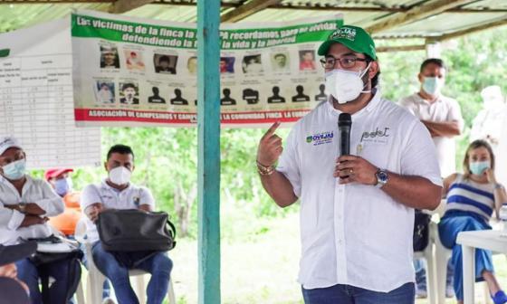 Polémica reunión del alcalde de Ovejas con campesinos