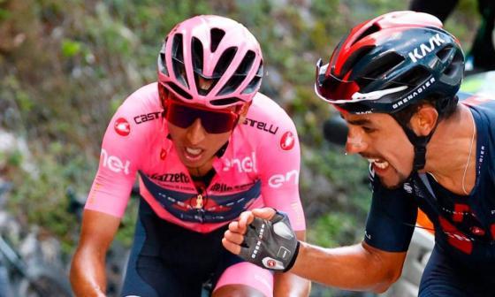 Daniel Martínez terminó quinto en el Giro de Italia