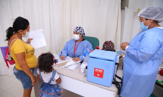 Jornada de vacunación contra sarampión y rubéola