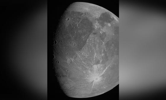 Imágenes tomadas por Juno a luna gigante de Júpiter