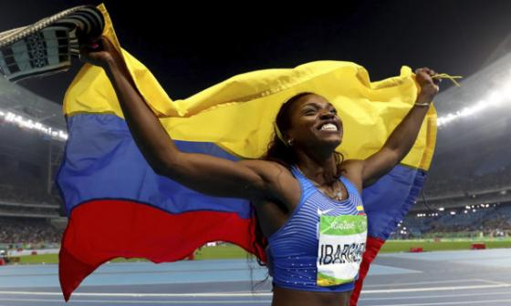 Caterine Ibargüen, abanderada de Colombia en los Juegos Olímpicos de Tokio
