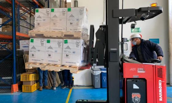 Colombia recibió 539.370 vacunas de Pfizer este jueves