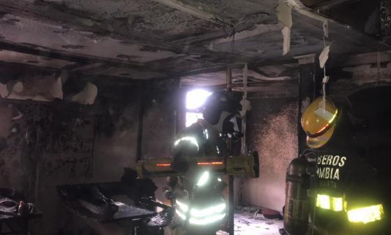 Incendió oficina en Santa Marta y sufrió quemaduras en su cuerpo