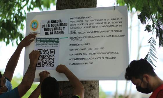 Alcaldía de Cartagena crea Código QR para que ciudadanía monitoree obras