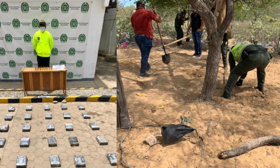 Incautan más de 24 kilos de coca enterrados cerca de Manaure, en La Guajira