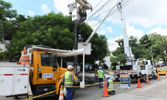 Este sábado no habrá energía en cinco sectores de Barranquilla