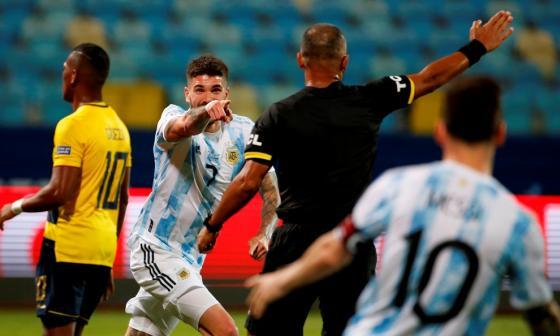 Argentina golea a Ecuador y se cita con Colombia en semifinales