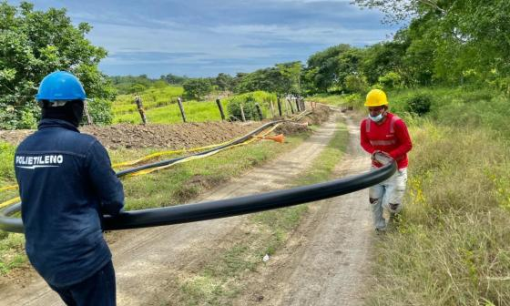 El agua potable en La Gallera, Sincelejo, es un hecho