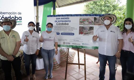 Anuncian la construcción de tres parques en San Andrés de Sotavento, Córdoba