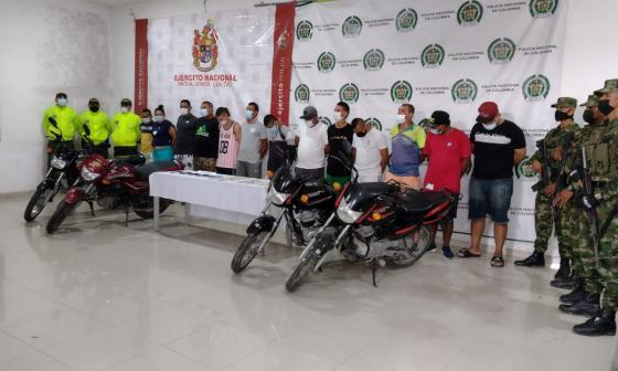 Cae red delincuencial al servicio del 'Clan del Golfo' en Córdoba