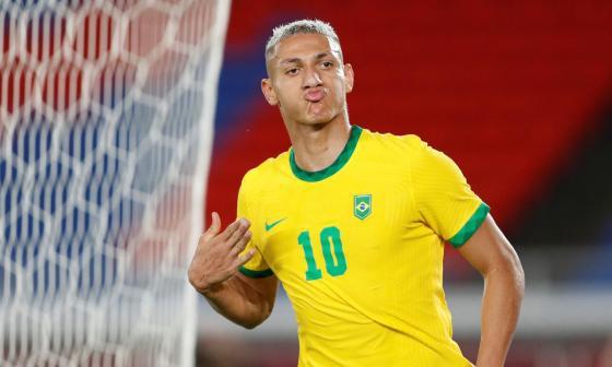 Brasil debutó con goleada en los Juegos Olímpicos