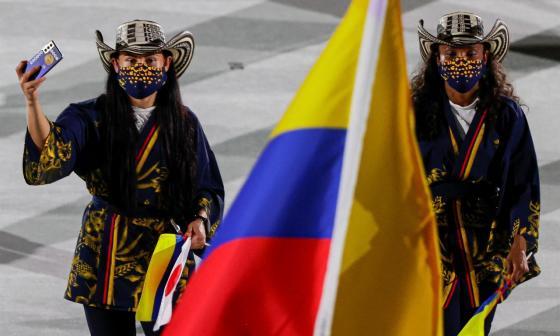 Con sombrero vueltiao y kimono Colombia se destacó en la inauguración de los Juegos Olímpicos