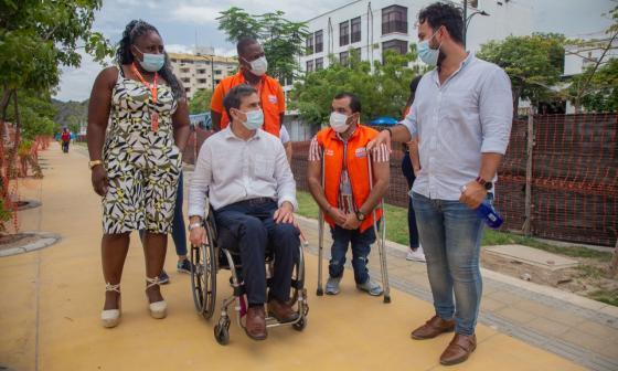 Destacan accesos a discapacitados en obras del nuevo camellón samario