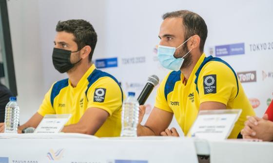 Juan Sebastián Cabal y Robert Farah inauguraron 'Casa Colombia'