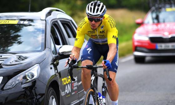 Zimmermann, vencedor de la segunda etapa, arrebata el liderato a Hodeg