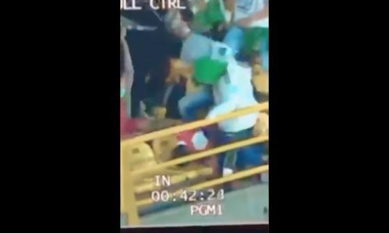 Salvaje agresión de hinchas de Nacional a uno de Santa Fe