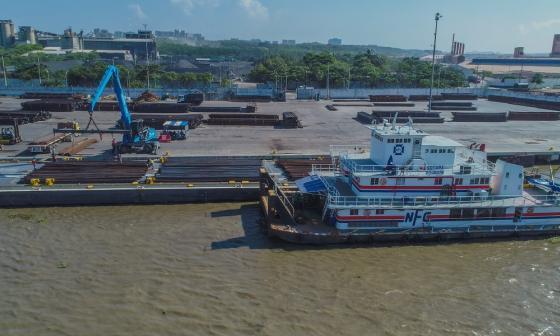 Compas realizó embarque récord de acero en Barranquilla
