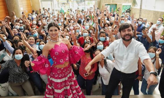 Valeria Charris y su visita real a la Alcaldía de Barranquilla