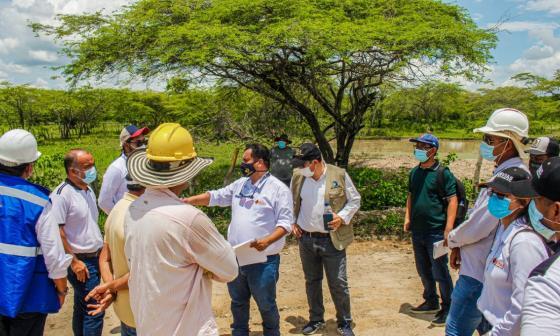 Realizaron visita técnica para obras por erosión en Salamina