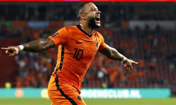 Depay guía la goleada de los Países Bajos sobre Montenegro