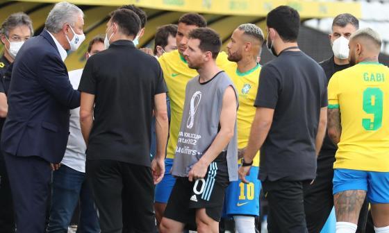 Conmebol suspende el juego entre Brasil y Argentina