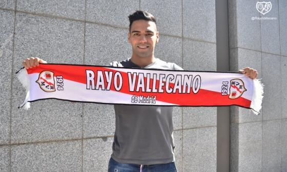 Radamel Falcao e Iván Arboleda tuvieron su primer entrenamiento con el Rayo Vallecano