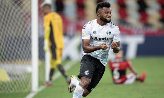 Miguel Ángel Borja le da la victoria a Gremio ante Flamengo en el Maracaná