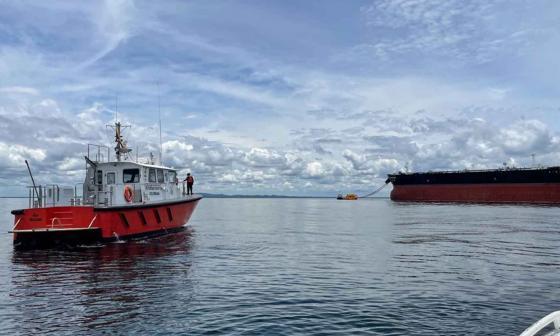 Dimar supervisa operaciones de buques de carga en Golfo de Morrosquillo