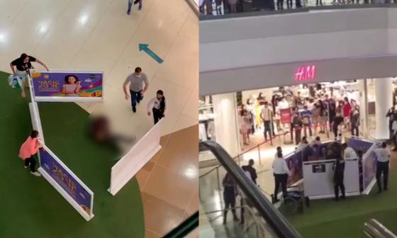Joven cayó de cuarto piso en centro comercial de Barranquilla