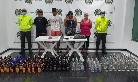 Capturan a cuatro personas y aprehenden a dos menores en San Roque