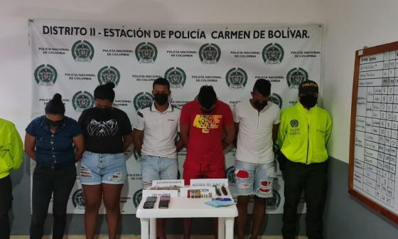 Desarticulan a 'Los Rafitas', banda que vendría drogas en Bolívar