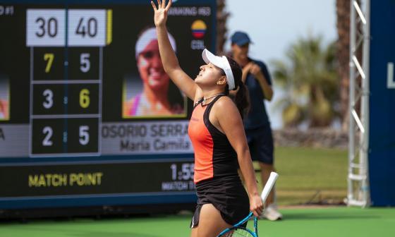 Camila Osorio clasificó a los cuartos de final del WTA de Tenerife en España
